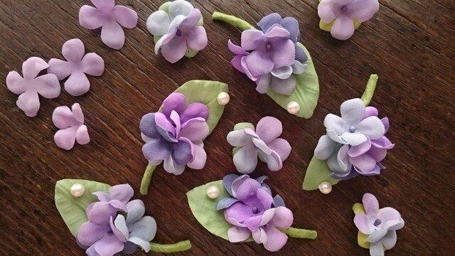 しずく きらり 紫陽花のブローチの画像1枚目