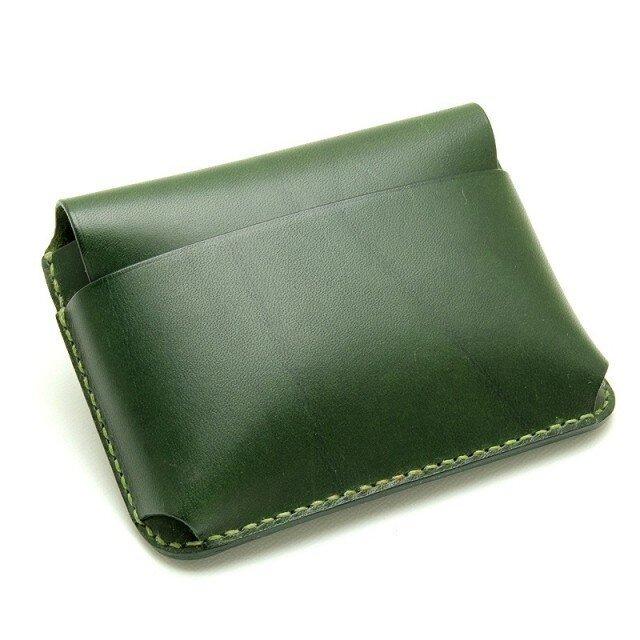 【受注生産】カードケース(名刺入れ) グリーンの画像1枚目
