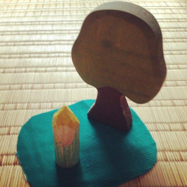 木のこびと 黄×緑(小)の画像1枚目