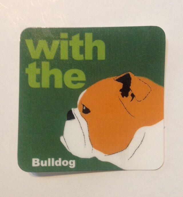 ブルドッグ 横顔 ステッカー DOG IN CARの画像1枚目