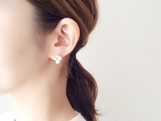 Refined -pearl- / Earringsの画像1枚目