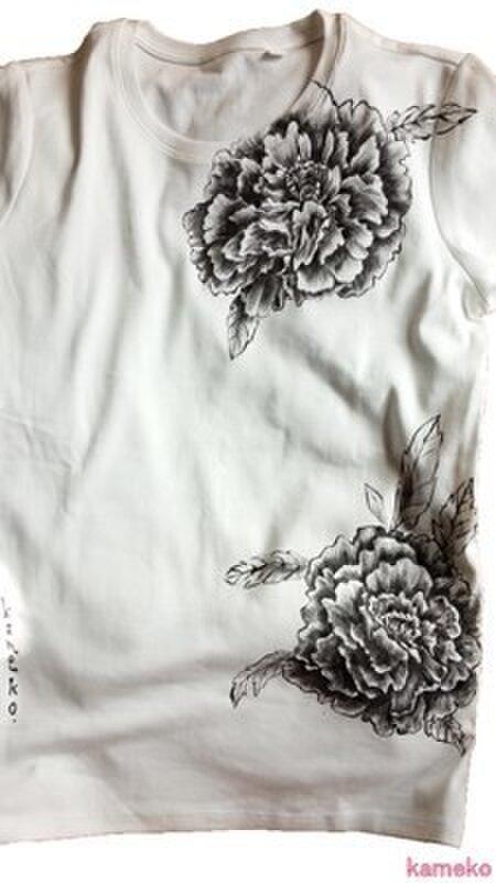 特注手描きTシャツ★その人イメージでプレゼントシャツの画像1枚目