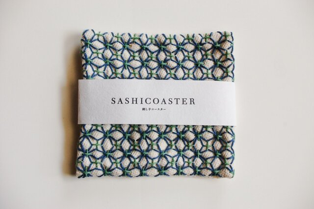 SASHICOASTER(刺し子 コースター)17の画像1枚目