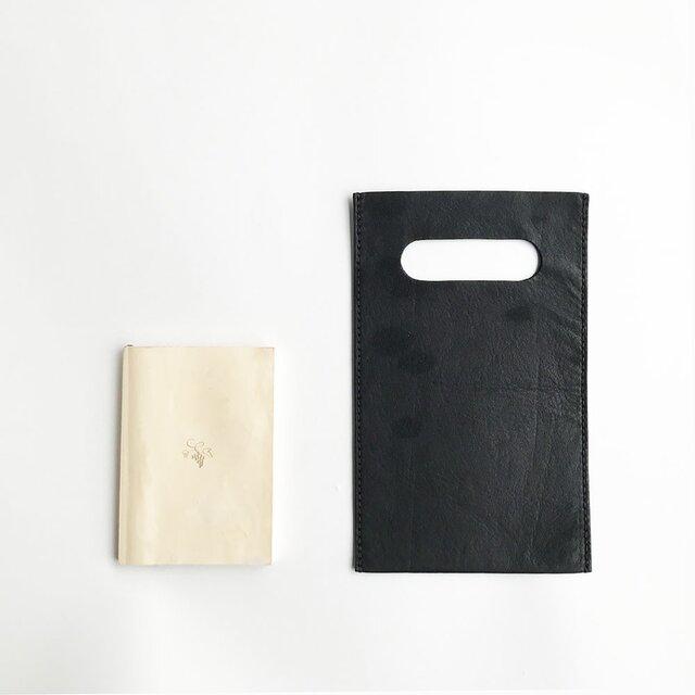 ベイビーヒップの本屋さんバッグ 文庫本サイズ 黒の画像1枚目