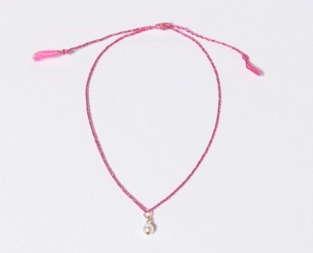 baby pearl thin bracelet /oの画像1枚目