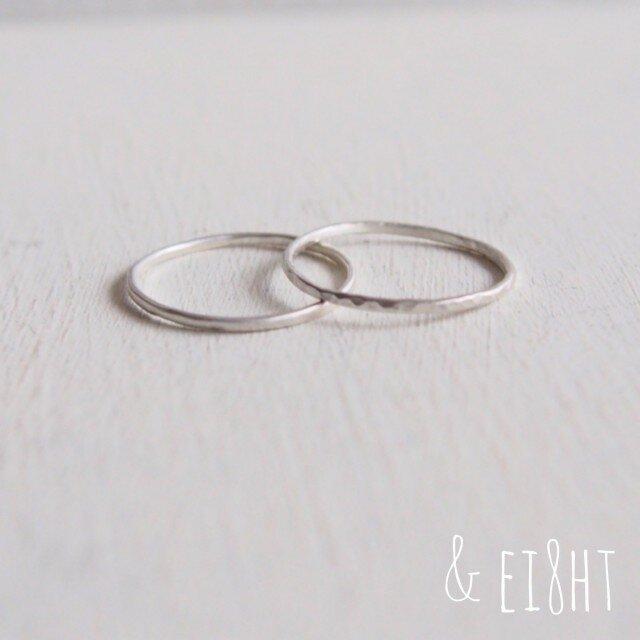 【再販】- Silver - The 2 Ringsの画像1枚目