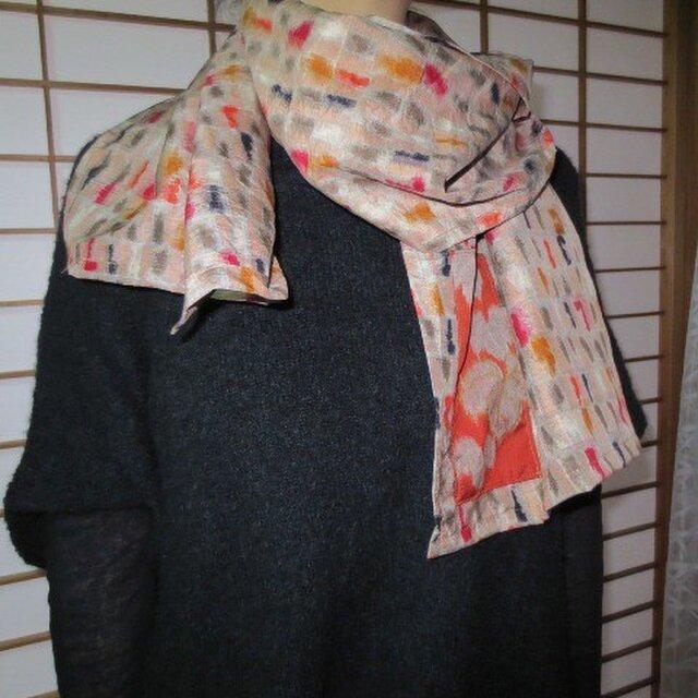 銘仙deストール☆コートに軽く…サラサラの肌触りで暖かです♪の画像1枚目