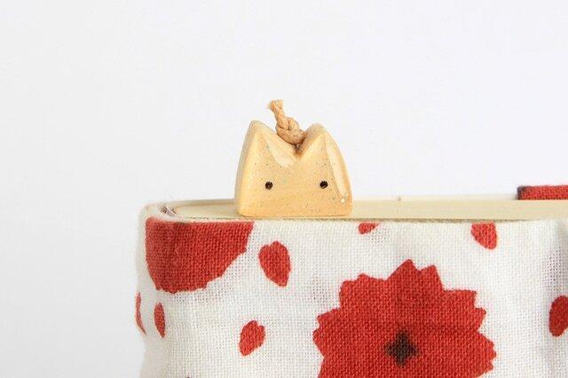 木製ネコしおり ナチュラル(ブックマーカー)の画像1枚目