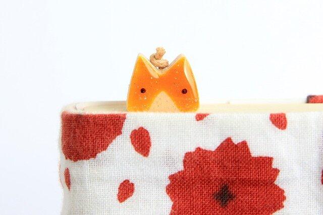 木製ネコしおり チャトラ(ブックマーカー)の画像1枚目