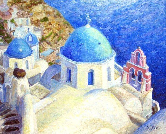 イヤの教会と鐘楼 の画像1枚目