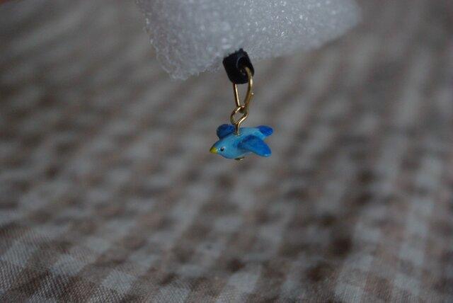 青い鳥*ぶらぶらイヤホンジャックアクセサリーの画像1枚目