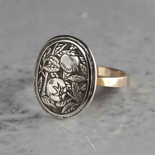 Pomegranate ring{R056K10}の画像1枚目