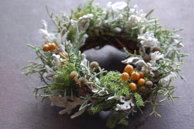 手のひらリース 「秋から冬へ」の画像1枚目
