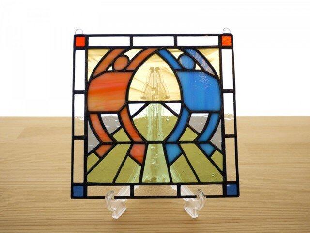 ステンドグラス ミニパネル ストレッチ 15cmの画像1枚目
