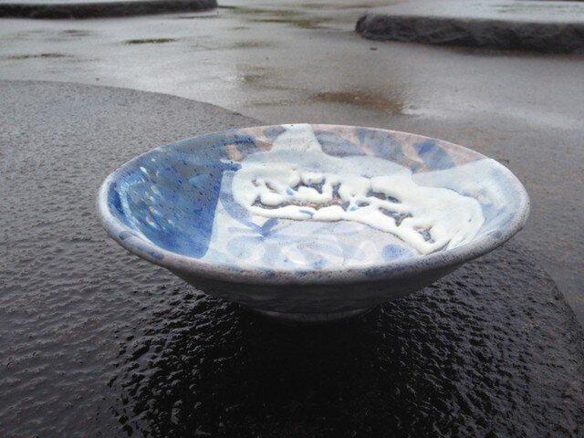 藁灰釉のパスタ・カレー皿の画像1枚目