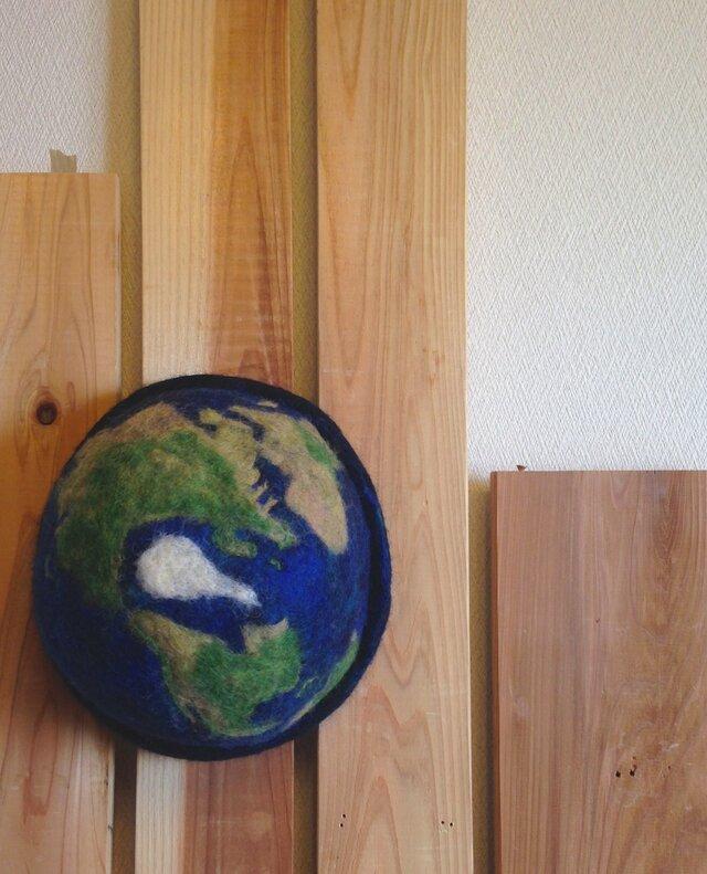 地球ハット 紺の画像1枚目