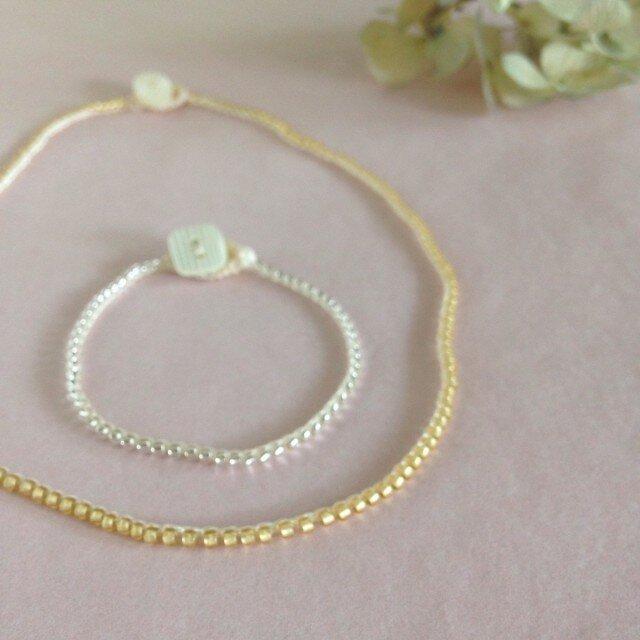 beads bracelet single(gold)の画像1枚目