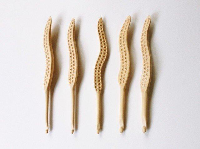木製 かぎ針(6/0号)の画像1枚目