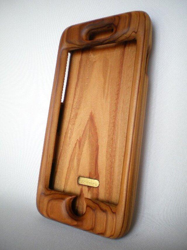 【受注制作】iPhone 6plus用木製ケース(杉)の画像1枚目