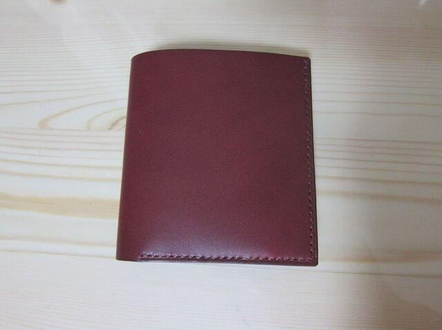 二つ折り財布 ミニ(ワイン)の画像1枚目