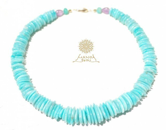 Amazonite*Necklaceの画像1枚目