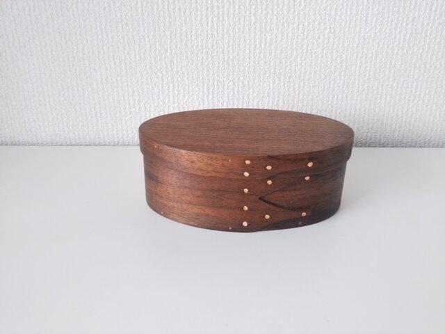Shaker Oval Box #2 - ブラックウォルナットの画像1枚目