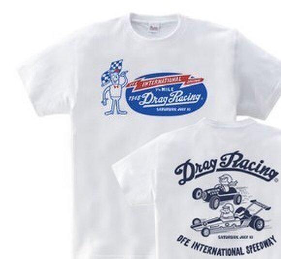 ドラッグ•レース 両面  150.160(女性M.L) Tシャツ 【受注生産品】の画像1枚目