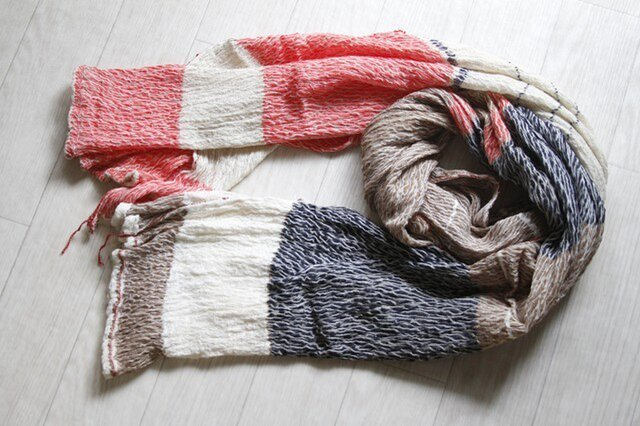 only one shawl cotton100 -2-6-の画像1枚目