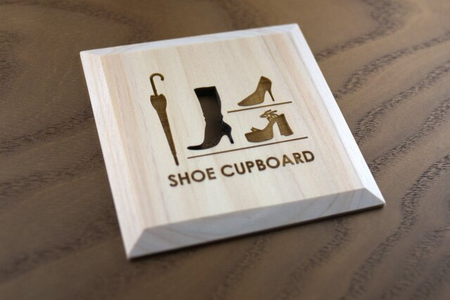 靴箱 プレート SHOE CUPBOARD(P)の画像1枚目