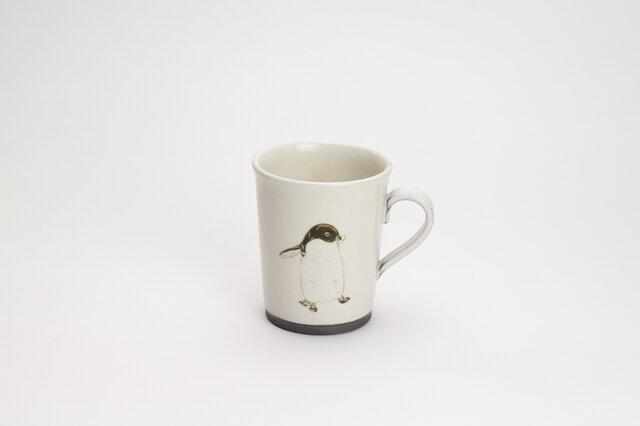 粉引コーヒーカップ(アデリーペンギン)の画像1枚目