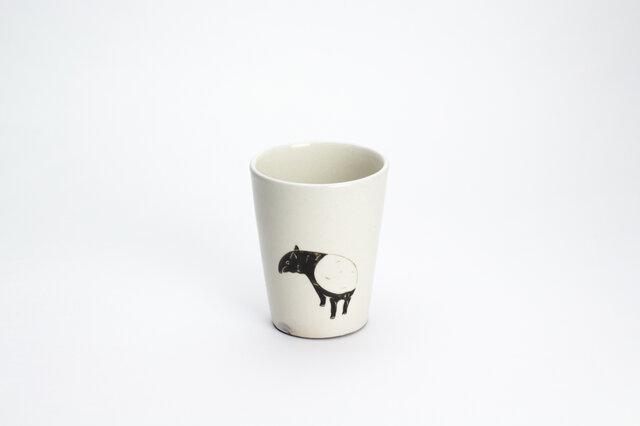 粉引フリーカップ(見返りマレーバク)の画像1枚目