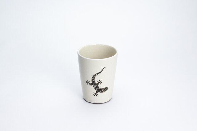 粉引フリーカップ(やもり)の画像1枚目