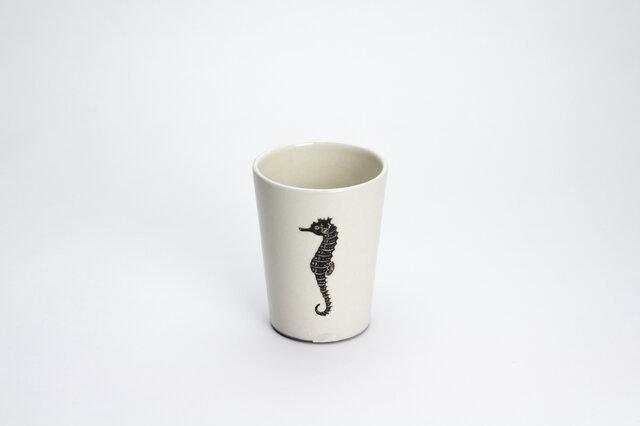 粉引フリーカップ(タツノオトシゴ)の画像1枚目