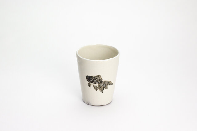 粉引フリーカップ(きんぎょ)の画像1枚目