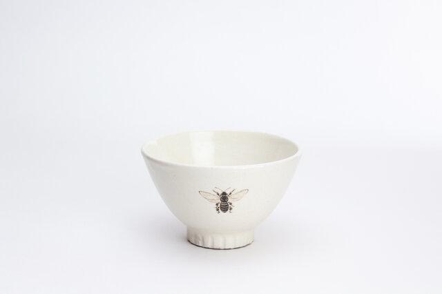 粉引茶碗(みつばち)の画像1枚目