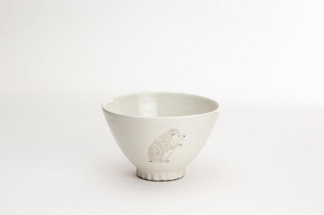 粉引茶碗(ハリネズミ立)の画像1枚目