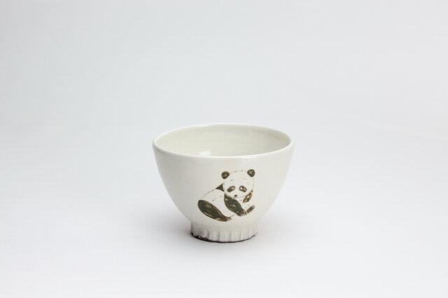 粉引茶碗 -(小)- (ぱんだ)の画像1枚目