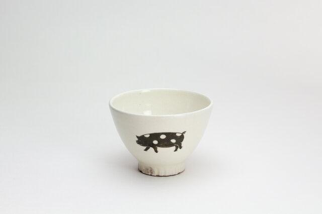 粉引茶碗 -(小)- (ぶた)の画像1枚目