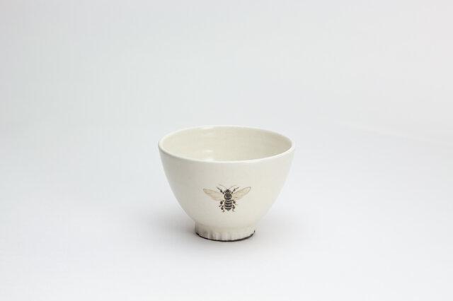 粉引茶碗 -(小)- (みつばち)の画像1枚目