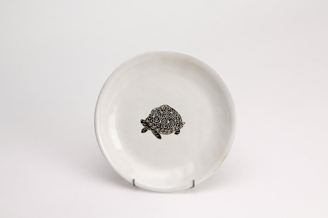 粉引丸皿(ホシガメ)の画像1枚目