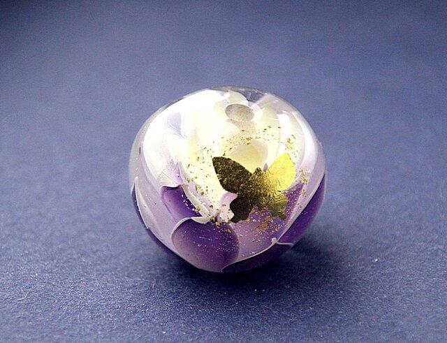 蓮と蝶 -古代紫-の画像1枚目