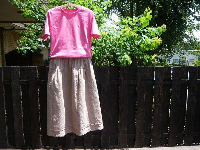 遠州綿紬のギャザースカートの画像1枚目