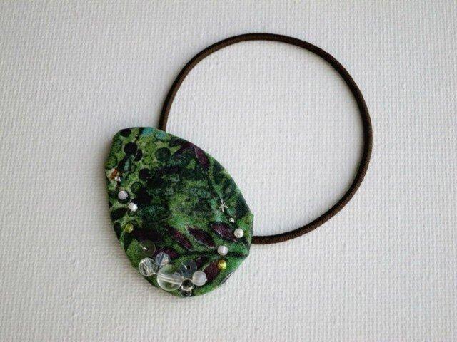 緑の森ヘアゴム Color drop(LIBERTY)受注製作の画像1枚目