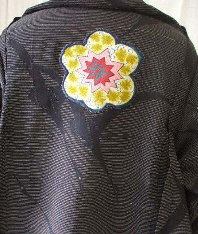 めずらしい柄ストールジャケット 絽 絹の画像1枚目