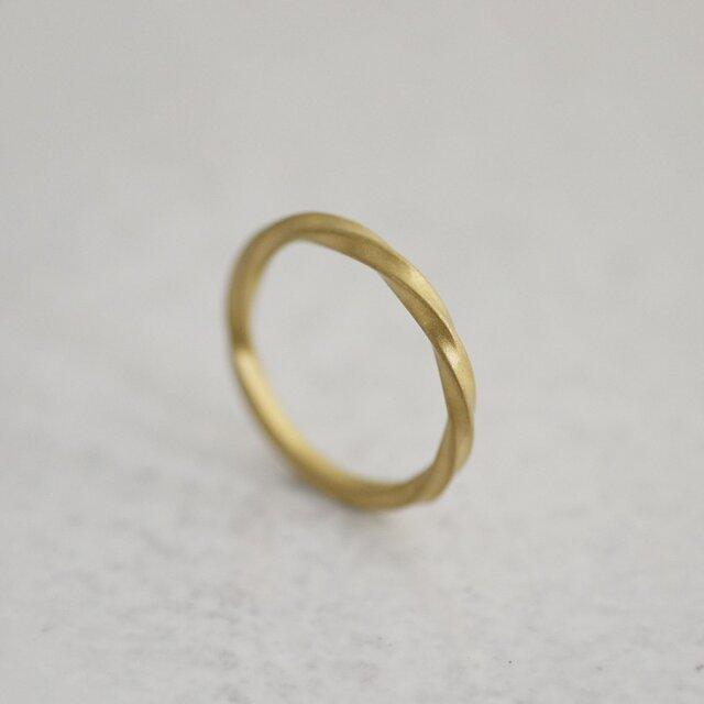 K18 Zephyr ring men'sの画像1枚目