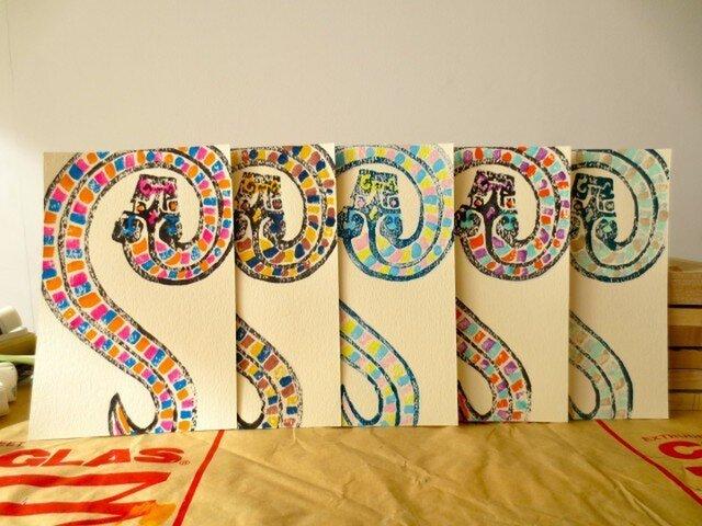 年賀状2013 Snake Fiveの画像1枚目
