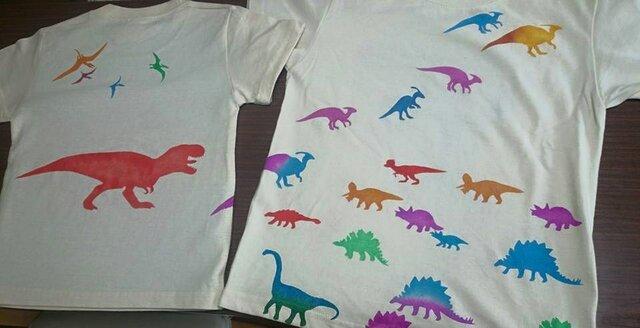 恐竜オアシス・Kids Tシャツ(ベージュ)の画像1枚目