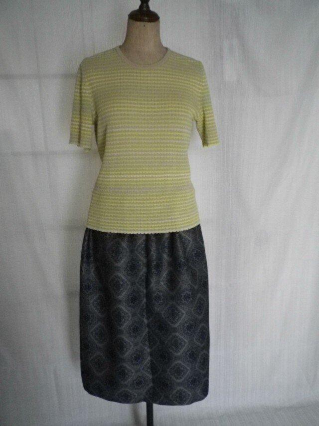 着物リメイク 紬のふんわりスカートの画像1枚目