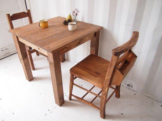 カフェテーブル【800×800】(ダーク)の画像1枚目