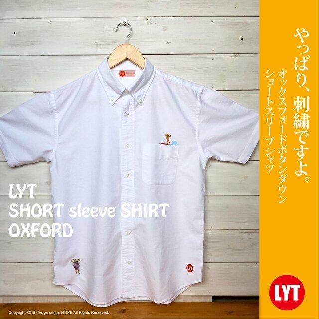 SURF 刺繍 ボタンダウン OXホワイトシャツの画像1枚目